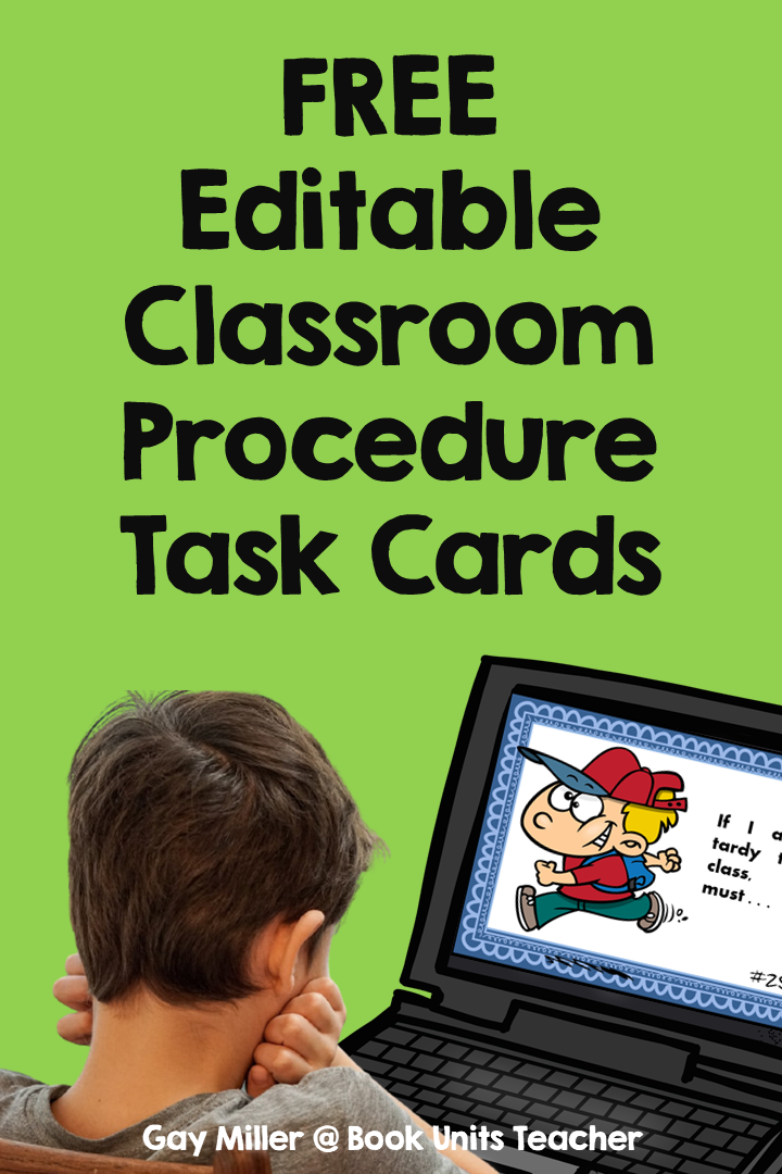Free Editable Classroom Procedures Task Cards