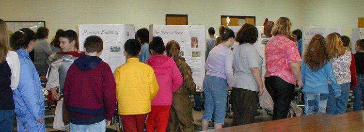 Many students visit the Ancient World Exhibit.
