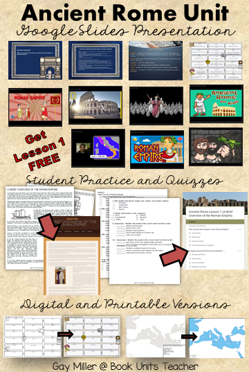 Ancient Rome Unit for Upper Elementary and Middle School Students - Get Lesson 1