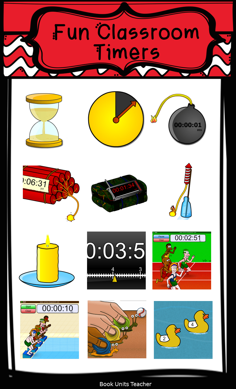 Fun classroom timers are a great tool for one-minute fluency checks.