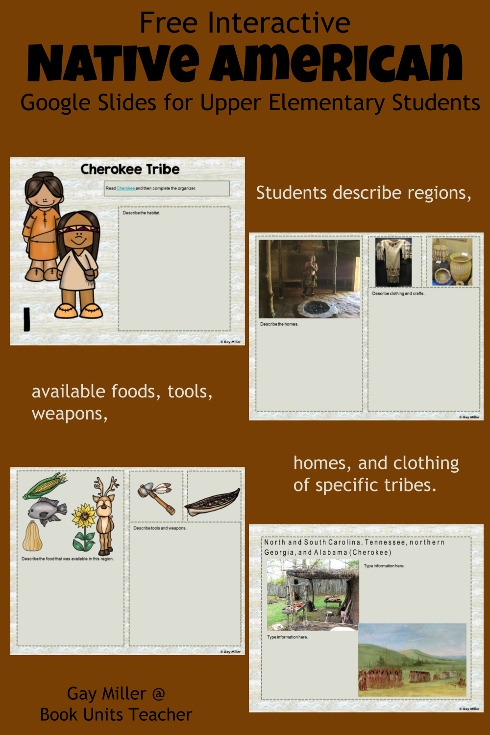 Free Native American Google Slides Activities