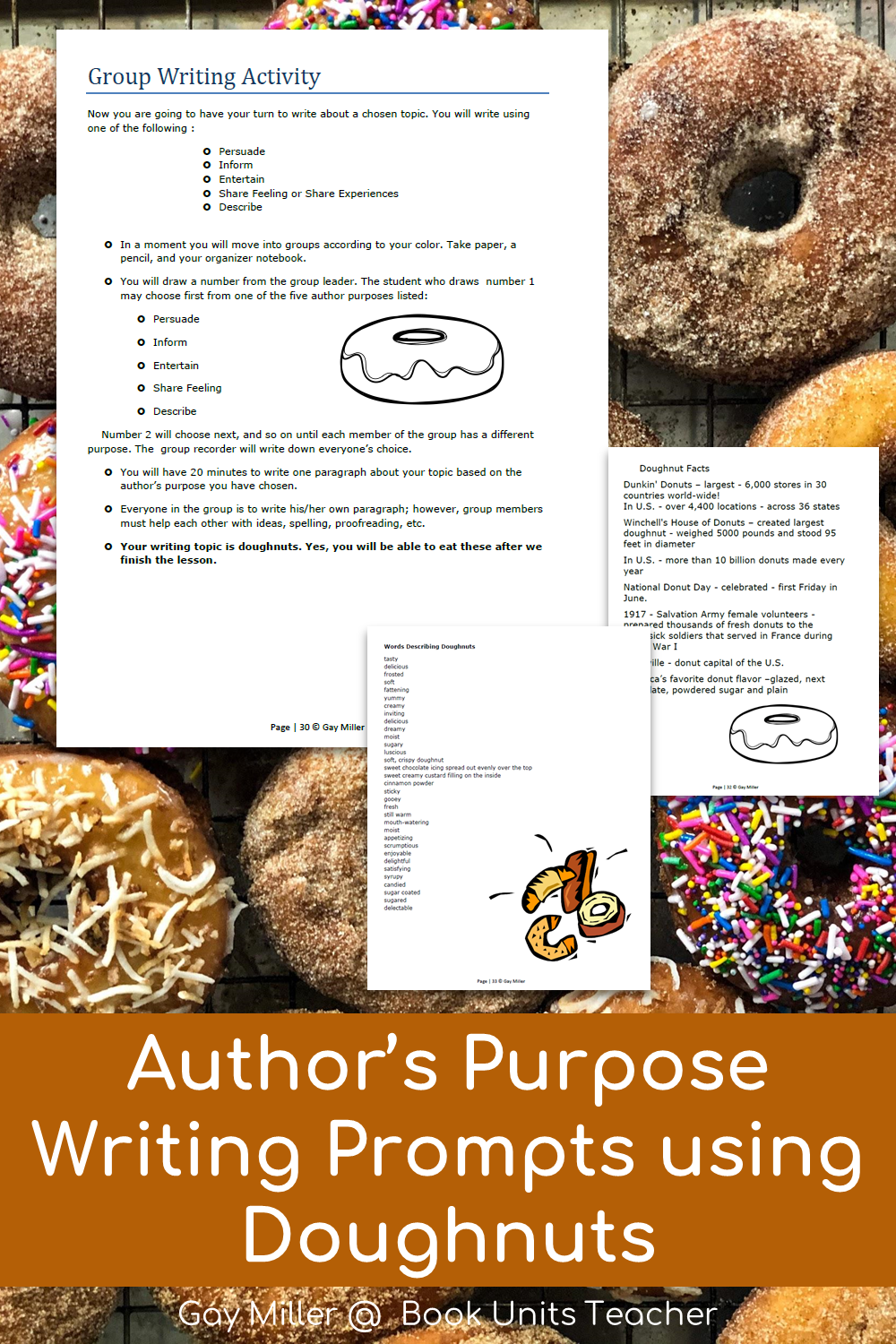 Doughnut Writing Project with Different Purposes