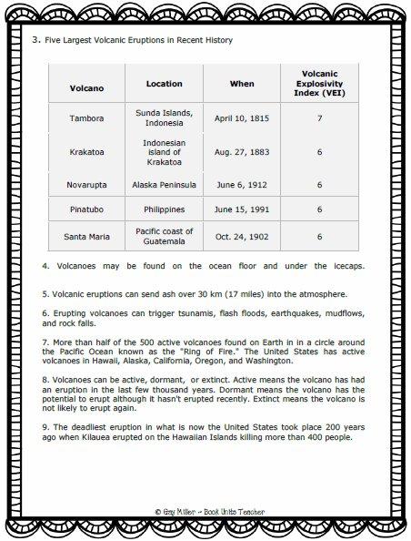 Ten Interesting Facts . . . Volcanoes