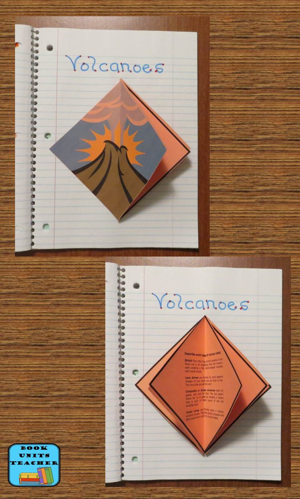 Free Foldable Organizer for Students to Learn about Volcanoes