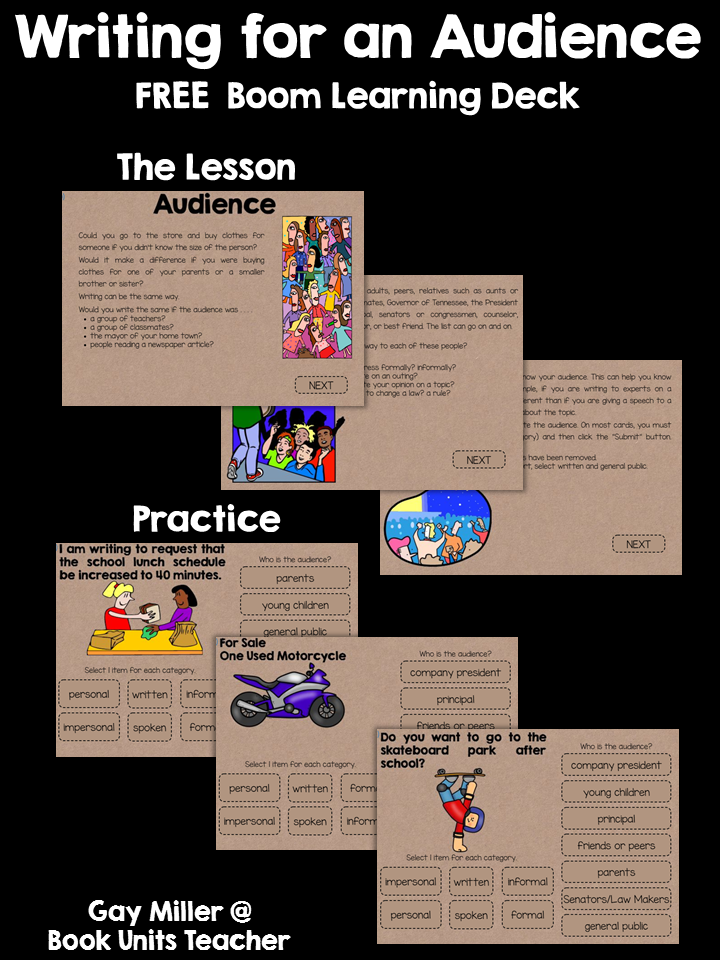 Teach students how to write for different audiences with this free Boom Learning Deck.