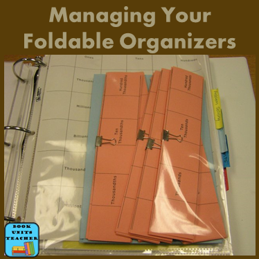 Managing your foldable organizers