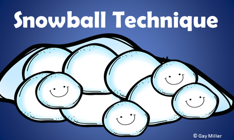 Free Printables to Practice using the Snowball Technique in Your Classroom