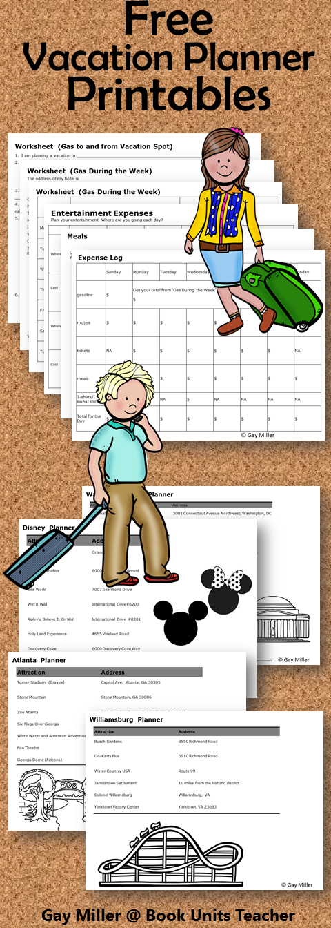Free Printables to Guide Students Through an Authentic Task - Planning a Vacation