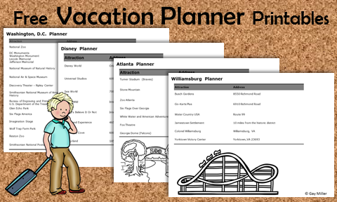 Teach authentic learning with these free vacation planner printables.