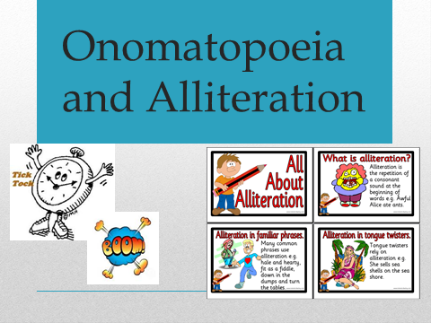 Onomatopoeia and Alliteration PowerPoint