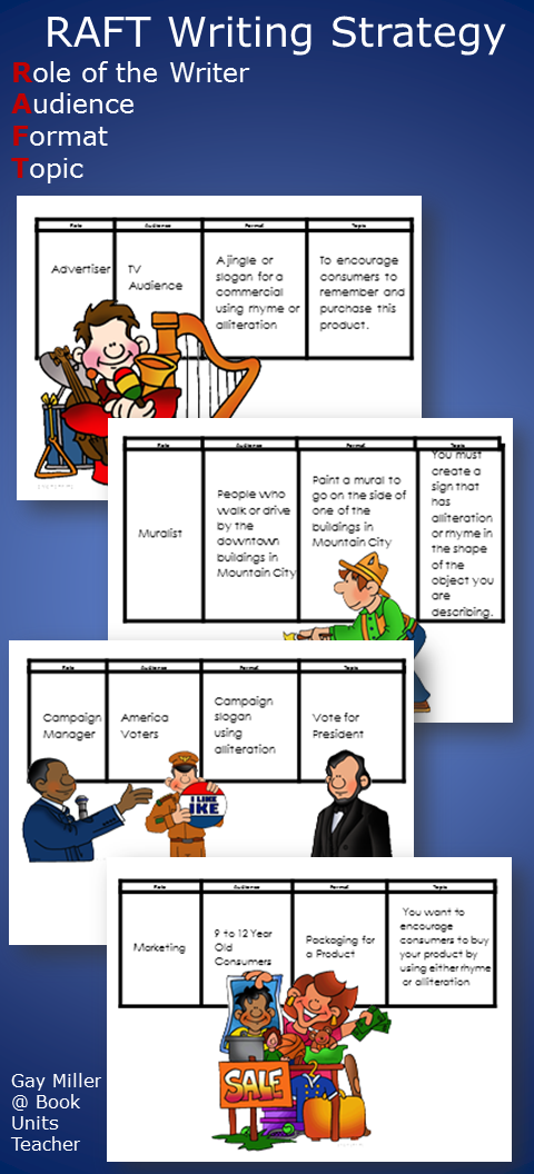 RAFT Teaching Strategy with Free Printable Activities