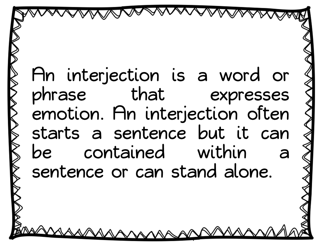 Free Worksheet Interjections Worksheet parts of speech interjections book units teacher poster 1