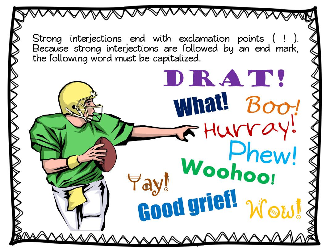 Parts of Speech ~ Interjections - Book Units Teacher