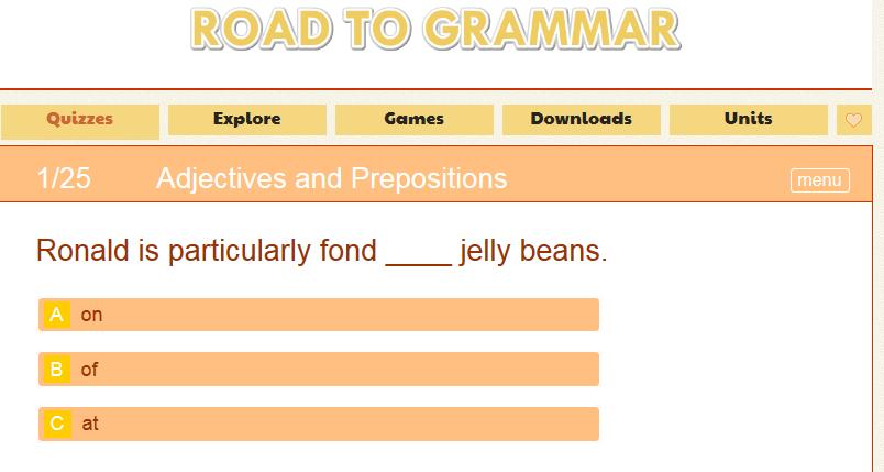 Online Game Road to Grammar