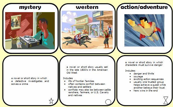 Free Genre Flash Cards