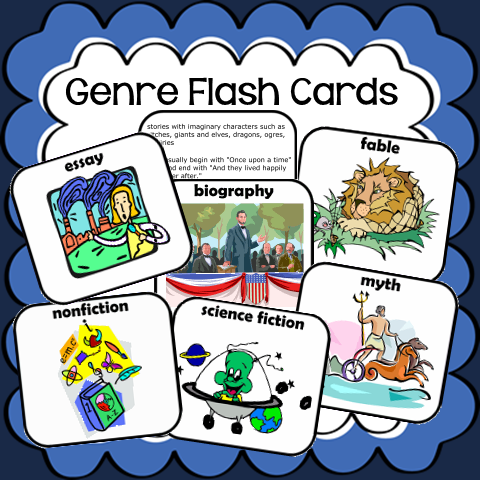 Free Genres Flash Cards
