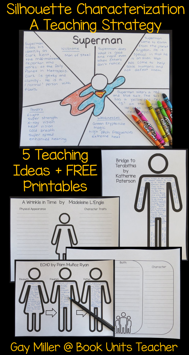 This post will illustrate how to teach character traits using silhouettes. This simple no prep method is both engaging and fun for students.