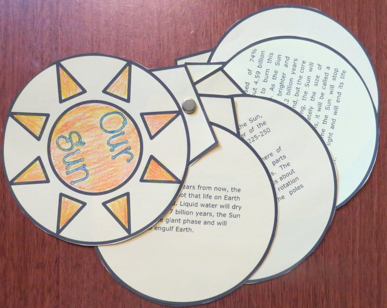 Sun Foldable Graphic Organizer