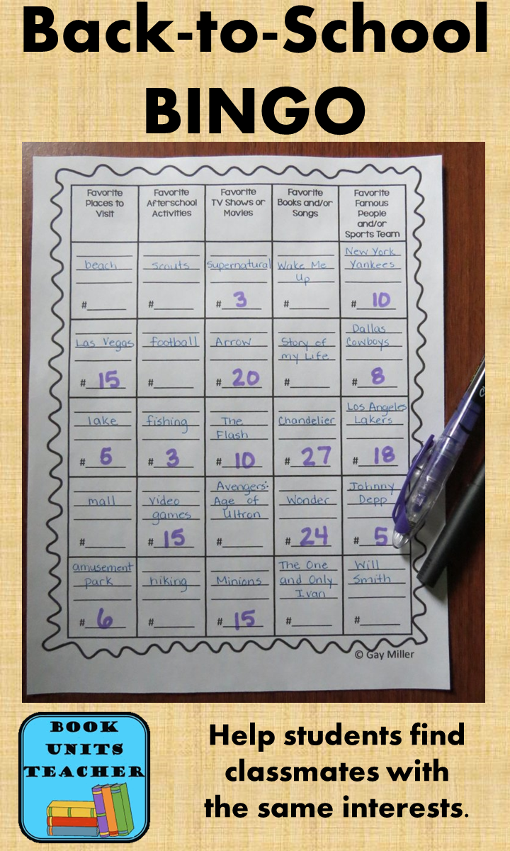Help your students meet classmates with similar interests with this Back-to-School BINGO game.