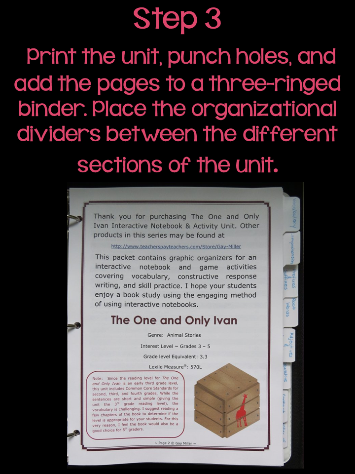 Organizing Your Book Units