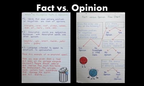 The blog post offers helpful tips for teaching fact vs. opinion including a free foldable organizer going over rules and examples.