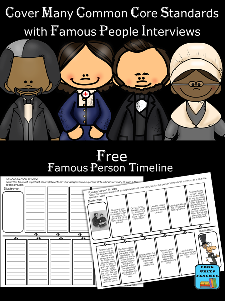 Free Printable to Help Students Create a Famous Person Timeline