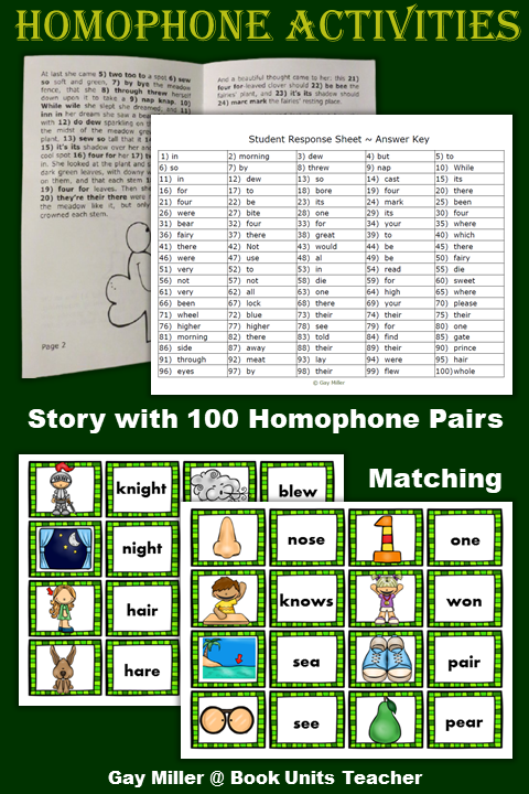 Free St. Patrick's Day Homophone Activities