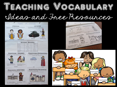 FREE Mini Posters for Teaching Types of Words - Turn them into an anchor chart. The included black-lined copies make great interactive notebook reference pages.