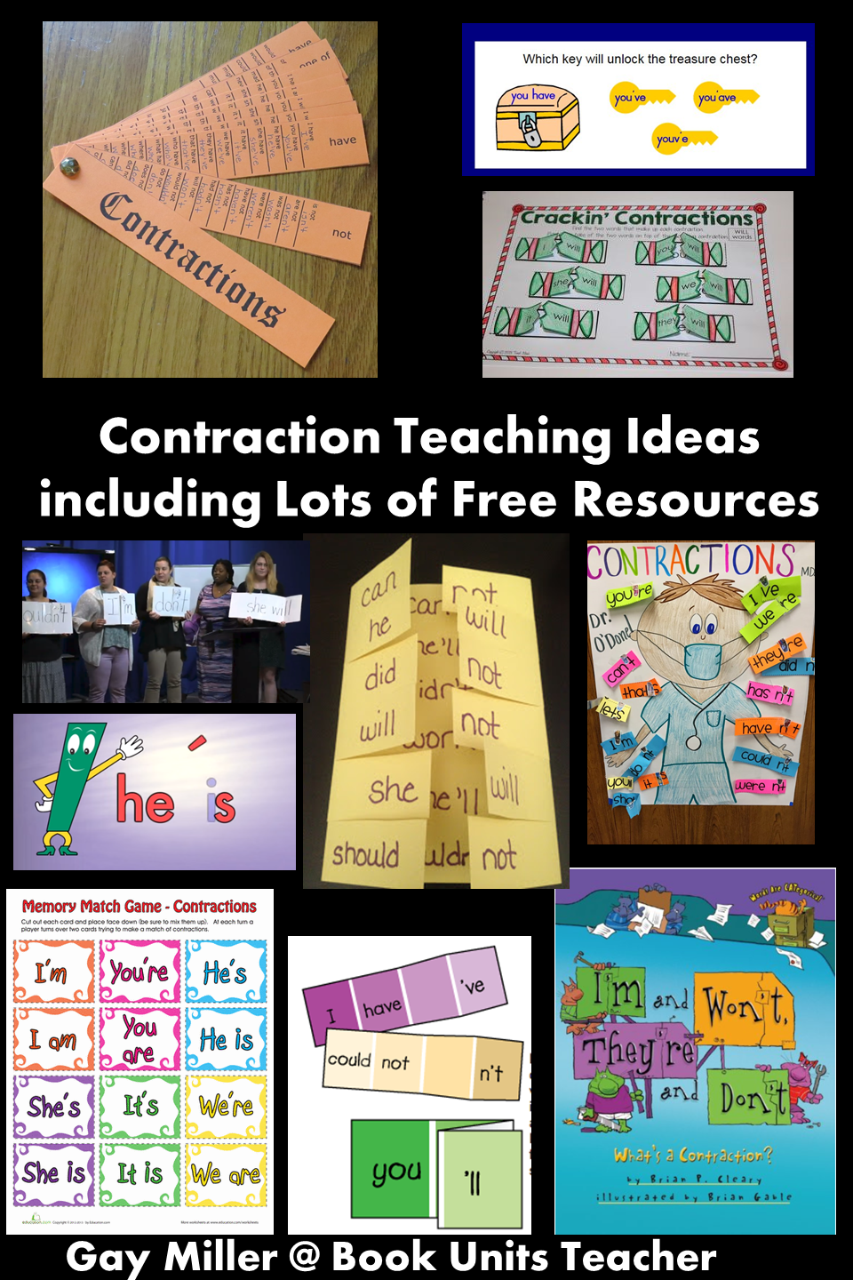 Contraction Teaching Ideas including Lots of Free Resources