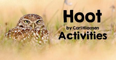 Hoot by Carl Hiaasen Activities
