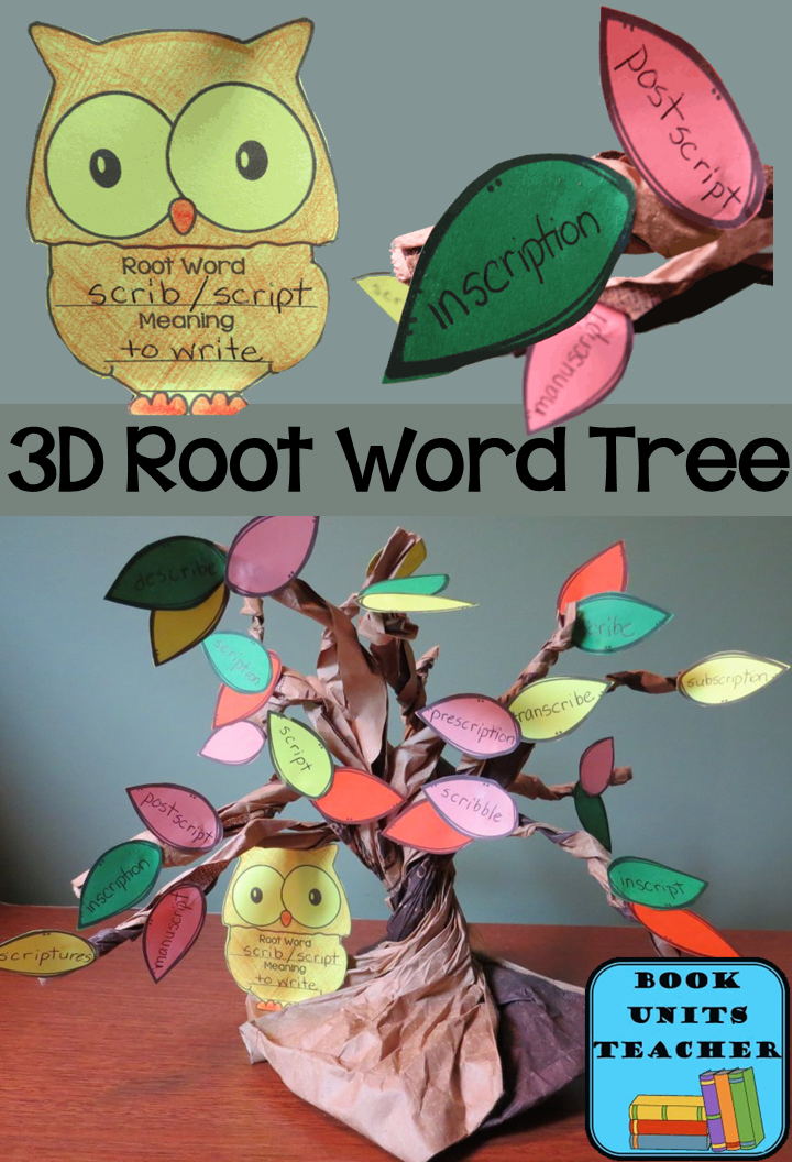 Your students will love turning an ordinary brown paper bag into making these 3D root word trees. Free printables are provided.