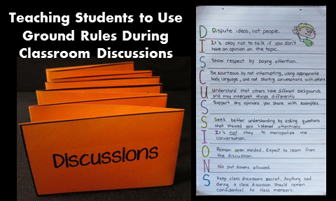 Teaching Students to Use Ground Rules During Classroom Discussions