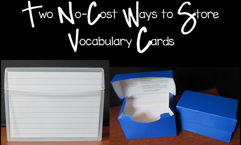 Vocabulary Card Storage Boxes