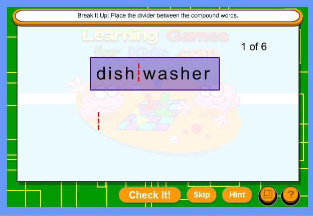 Online Compound Word Interactive Activity