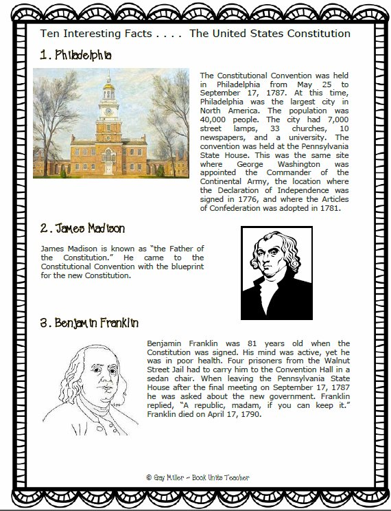 Ten Interesting Facts . . . .The Constitution