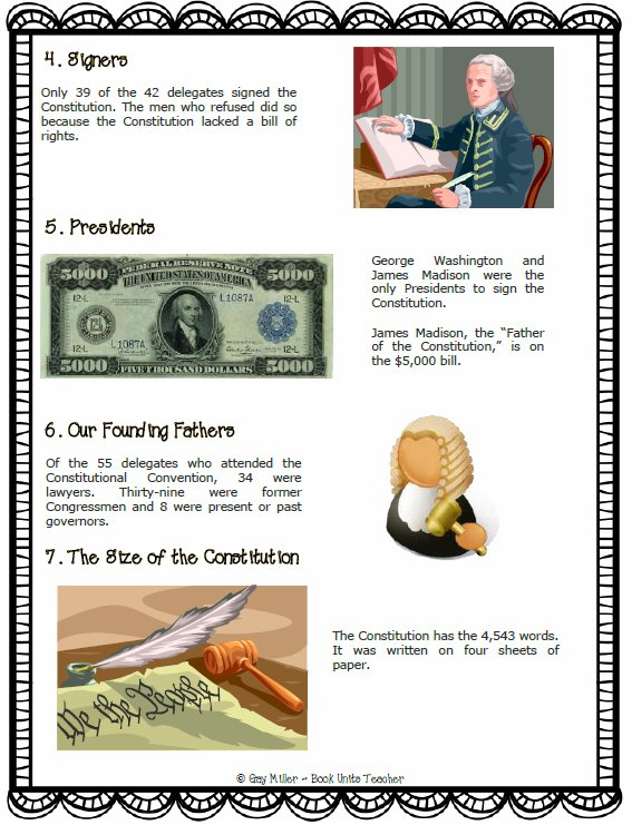 Ten Interesting Facts . . . . The Constitutiion