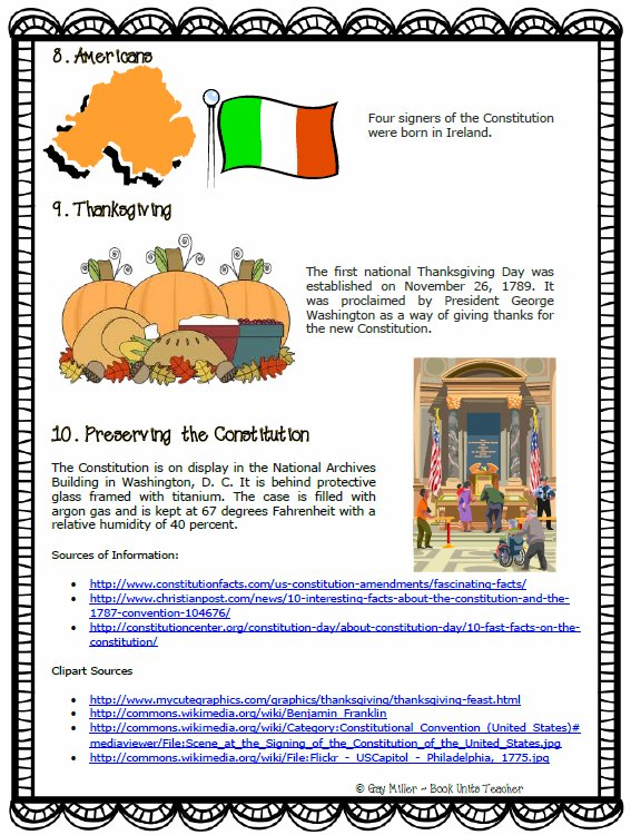 Ten Interesting Facts . . . . The Constitution