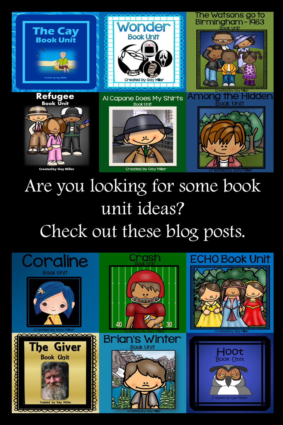 Book Unit Resources Pin