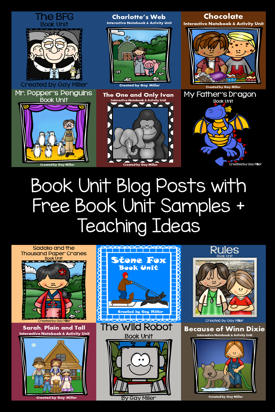 <h4>Book Unit Resources Pin</h4>