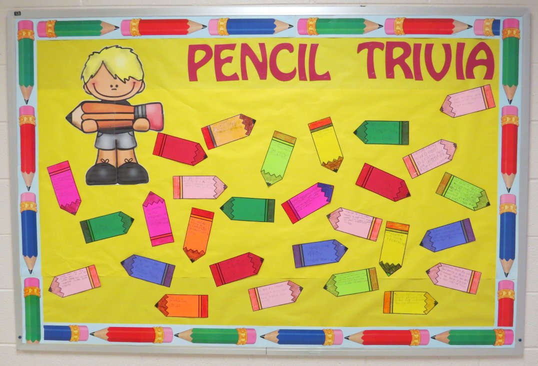 Pencil Trivia Bulletin Board