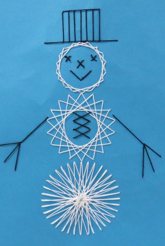 String Art Snowman