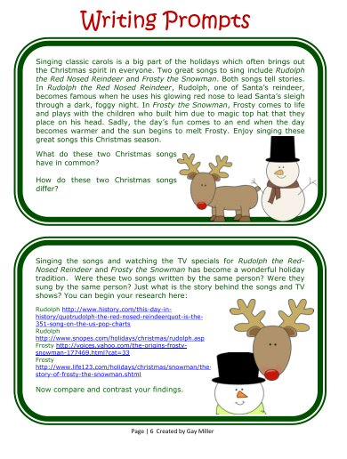 Free Printable Compare and Contrast Christmas Activities