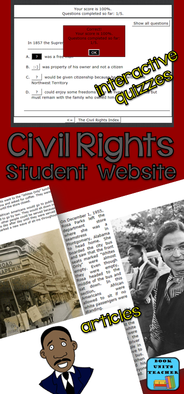 Great website where students can learn about the Civil Rights Movement of the 1960's.