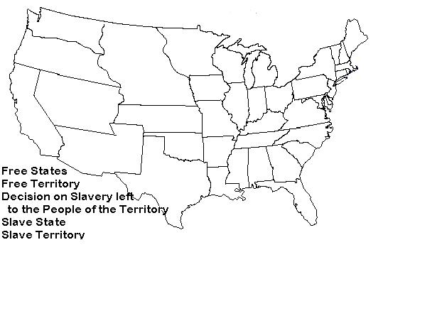 Lesson Plans - Blank map of us 1860