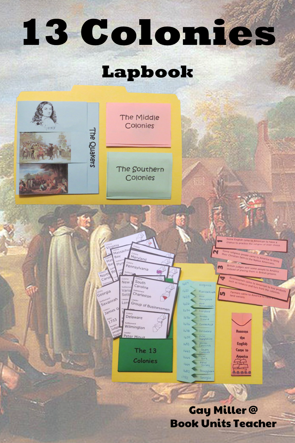 Purchase Colonial America Lapbook on Teachers Pay Teachers. This activity is great for upper elementary including 4th, 5th, and 6th graders.