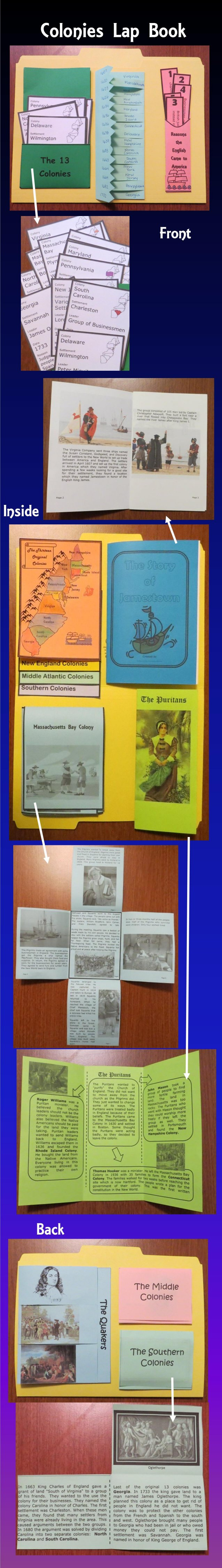 Colonial America Lap Book