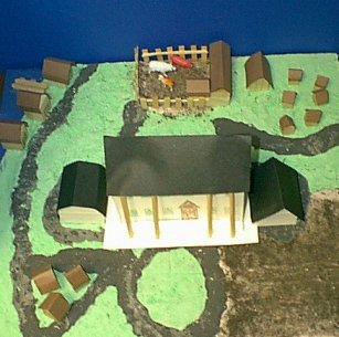Diorama of a Planation Created by Students