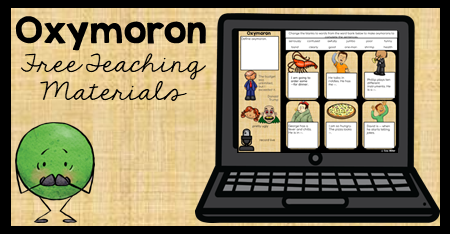 This figurative language lesson on oxymoron includes a free organizer and digital resource. 4th, 5th, and 6th graders will love these fun activities. This lesson covers the definition with examples appropriate for upper elementary students.
