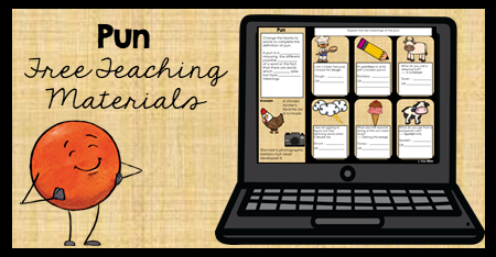 This figurative language lesson on puns includes a free organizer and digital resource. 4th, 5th, and 6th graders will love these fun activities. This lesson covers the definition with examples appropriate for upper elementary students.