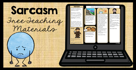 This figurative language lesson on irony includes a free organizer and digital resource. 4th, 5th, and 6th graders will love these fun activities. This lesson covers the definition with examples appropriate for upper elementary students.